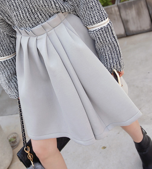 Pleated Front Midi Skirt