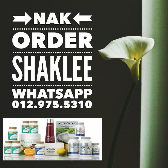 Nak Oder Shaklee?