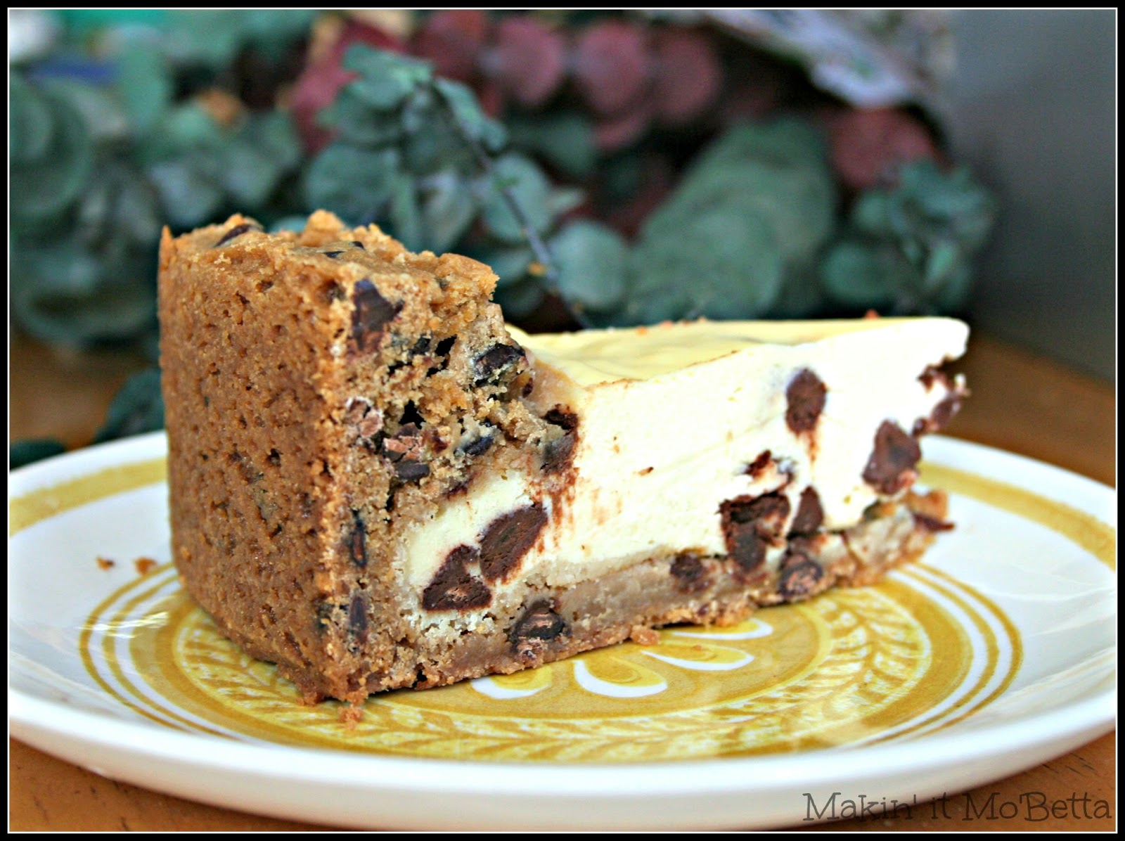 Chocolate Chip Cheesecake with Chocolate Chip Cookie Crust Makin
