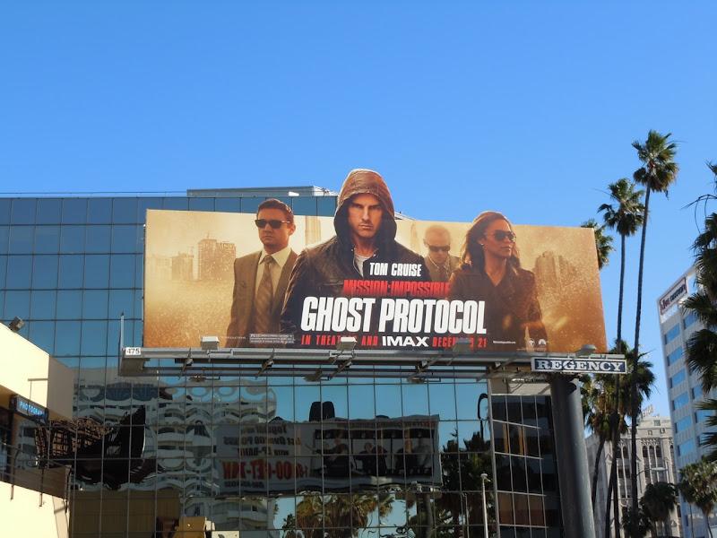 Tom Cruise Ghost Protocol billboard