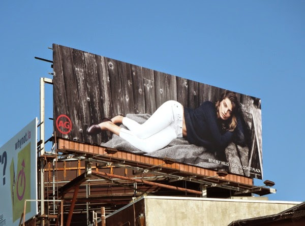 AG Jeans FW 2014 fashion billboard