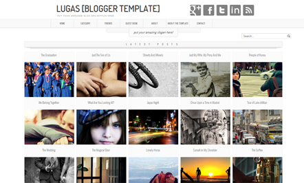 Lugas Blogger Template