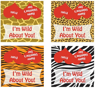 Wild About You Valentines + Printable