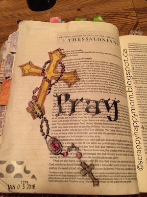 Pray Bible Page by Lynn Shokoples