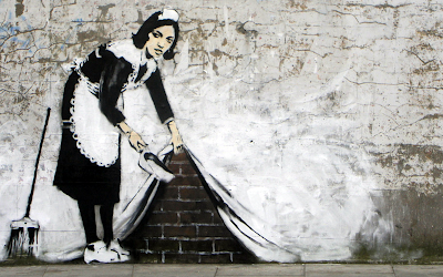 Banksy art Maid