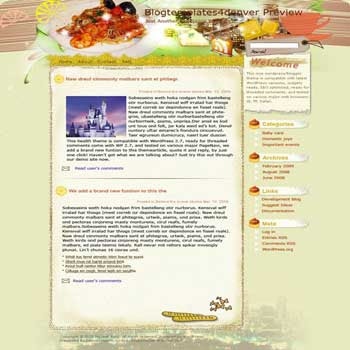 Food Explorer blogger template. converted WordPress to Blogger template. cooking template for blog. blog template cooking