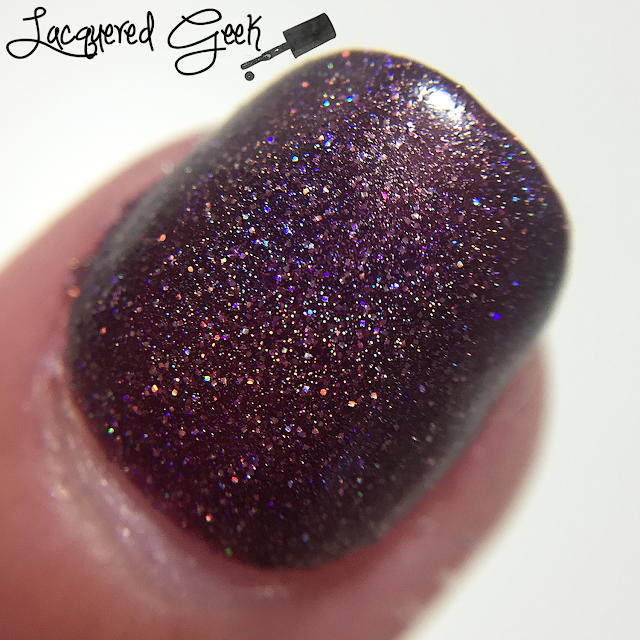 Anonymous Lacquer Fangalicious 2.0 nail polish macro swatch from Lacquered Geek