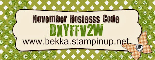 Use this code when you order at www.bekka.stampinup.net during November 2013 and you could win some free Stampin' Up! goodies!