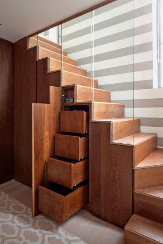 Drawer Space Under Stairs Storage