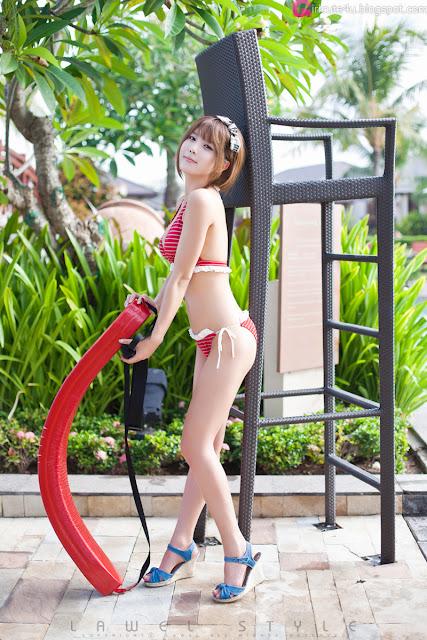 Heo-Yun-Mi-Red-and-White-Bikini-01-very cute asian girl-girlcute4u.blogspot.com