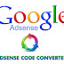 Adsense Ad Code Converter for inserting adsense inside Blogger Template