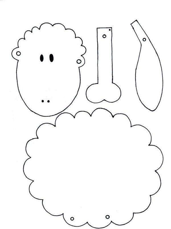 Como hacer una oveja de papel cositasconmesh - Como hacer una oveja ...