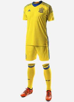 segunda equipación portero selección española de fútbol Eurocopa 2016