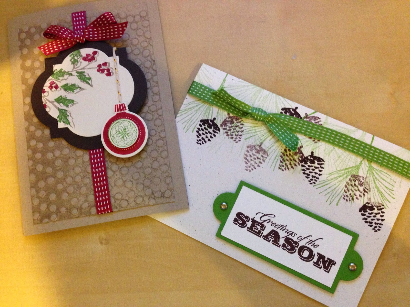 two cards for Christmas made this month
