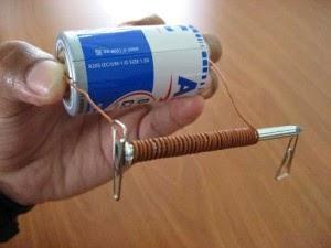 Magnet, Besi berani, baterai, Kabel Tembaga