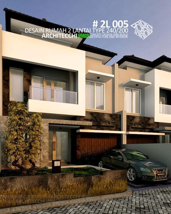 Desain Rumah 2 Lantai type 240