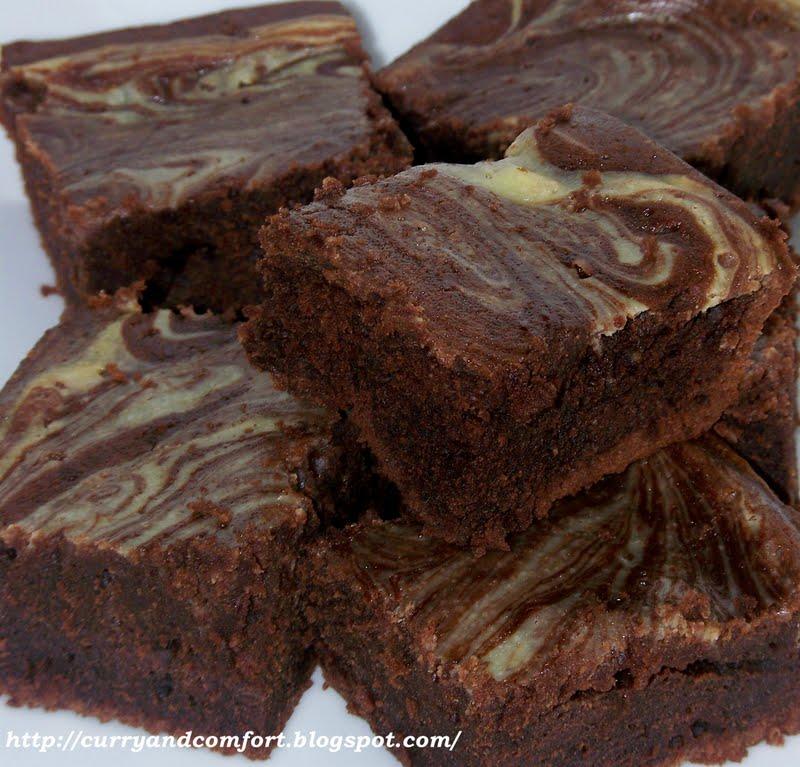 Kitchen Simmer Sour Cream Marbled Brownies