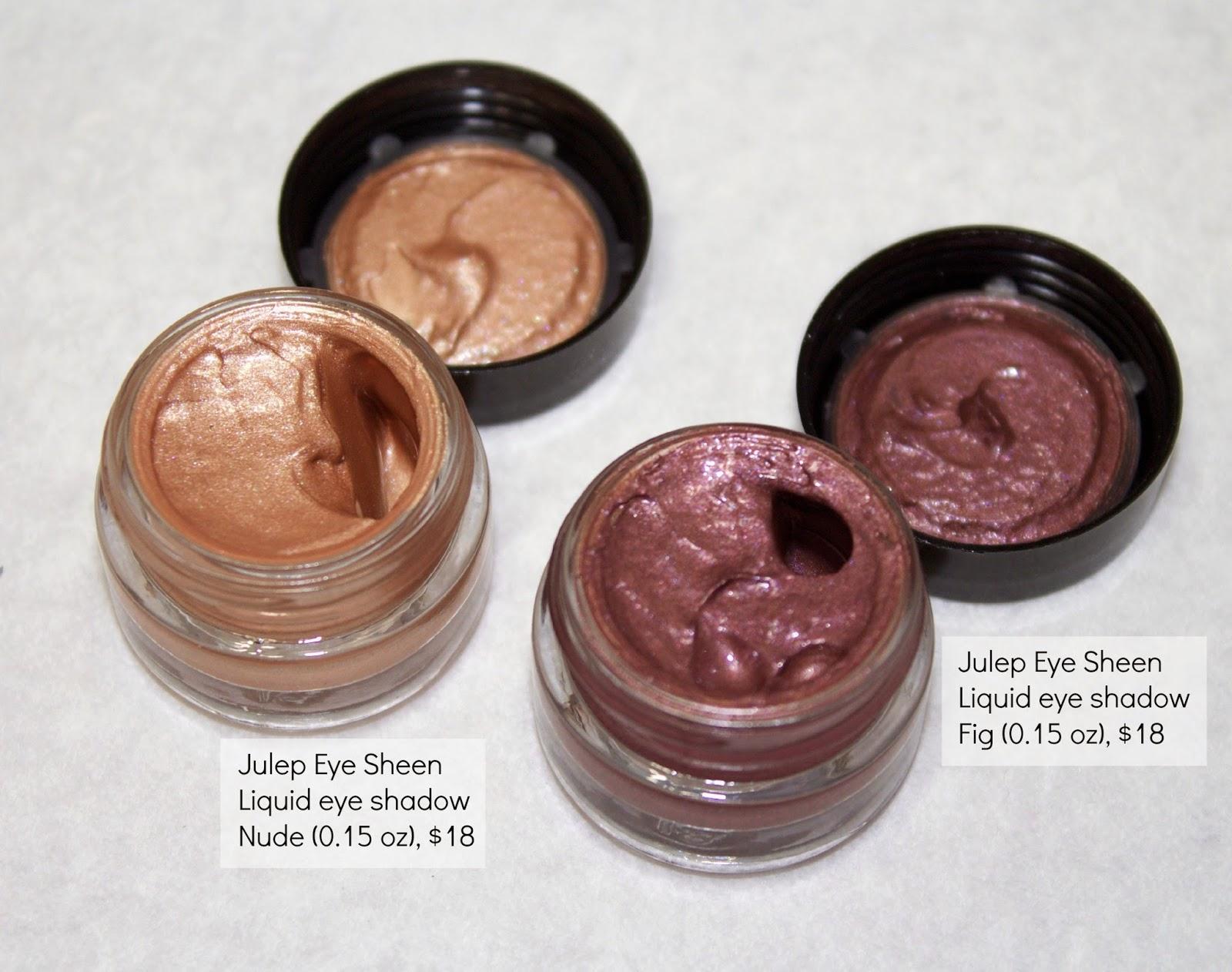 Julep Eye Sheen Nude, Julep Eye Sheen Fig, Review, @girlythingsyby_e
