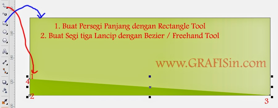 Membuat Background Persegi dan Segitiga di CorelDraw X7