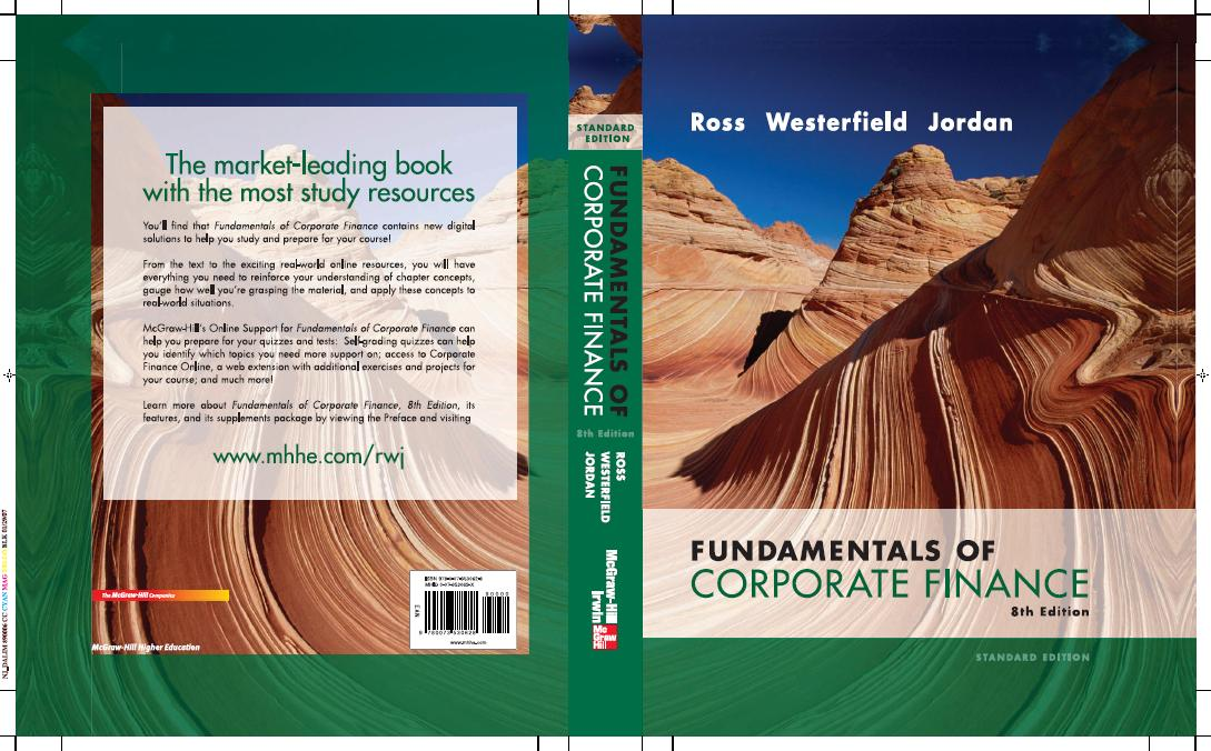 corporate finance ninth edition Available in: hardcover essentials of corporate finance by ross, westerfield, and jordan is written to convey the most important concepts and.