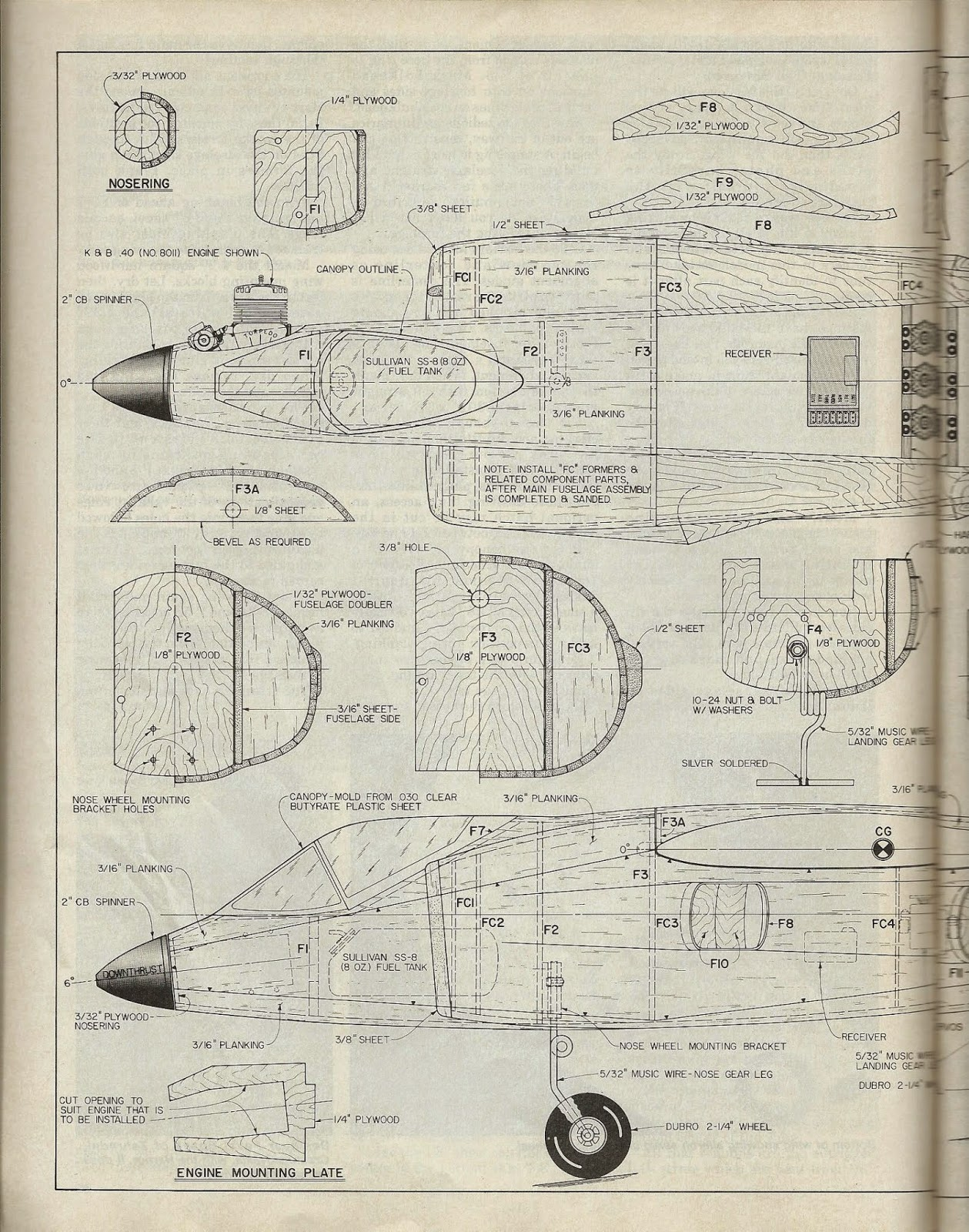 Rcm Hawker Siddeley Harrier Article And Plan R C Modeler Engine Diagram Click On The Pictures To Enlarge For Better Reading