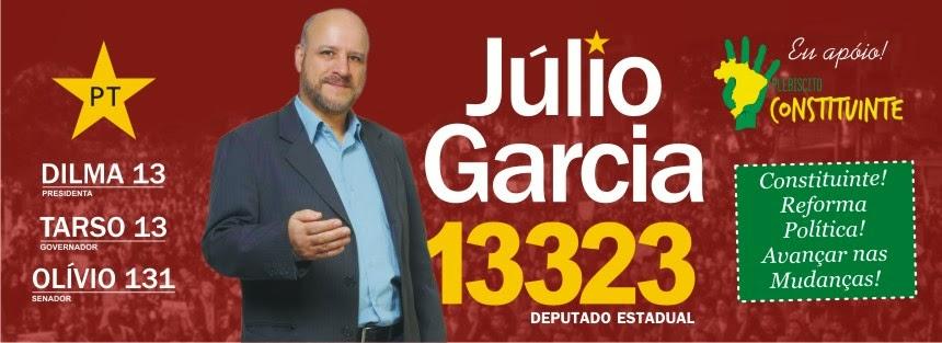 JÚLIO GARCIA DEPUTADO ESTADUAL   13.323       Partido dos Trabalhadores - PT/RS