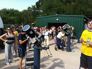 The crowd gathered to observe the Venus transit safely at Commerce Observatory