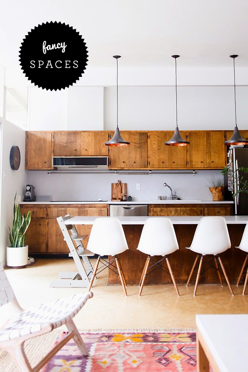 Love The Idea Of A Kitchen Island Also Being The Dining Table And A Vintage Kilim