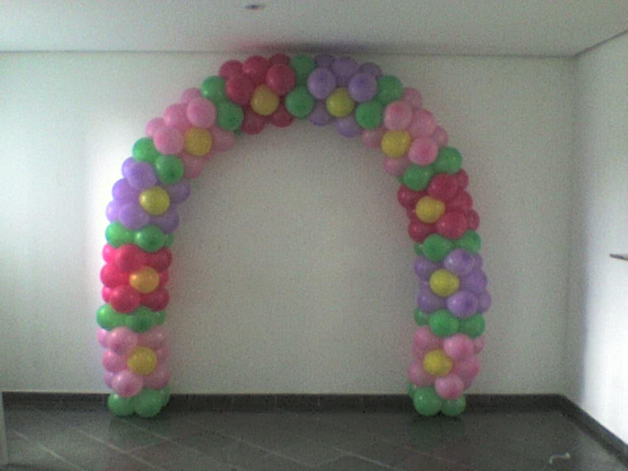 Arco De Baloes Alem De Bonito Ele Alegra A Festa Podendo Serem