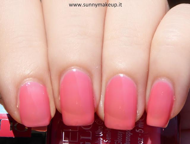 Swatch Pupa - Jelly Glow. Collezione 2015. Nail Polish nella colorazione 001 Baby Pink.
