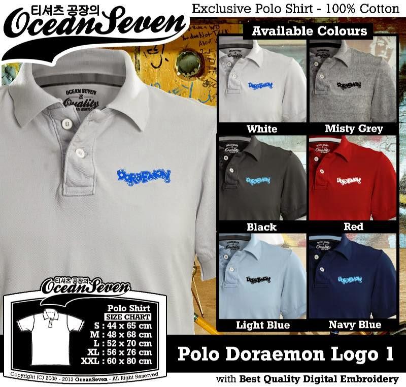 Kaos Polo Doraemon Logo 1