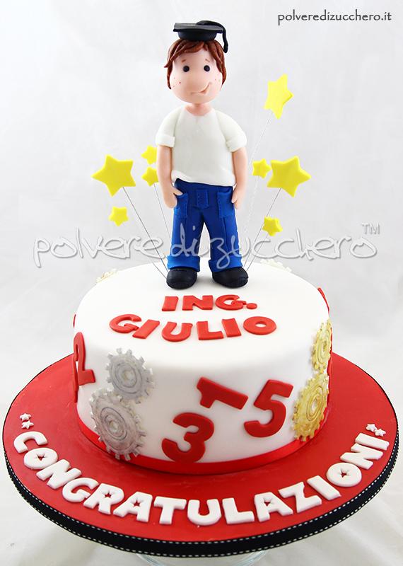 polvere di zucchero torte cupcakes pasta di zucchero tilda laurea cake design