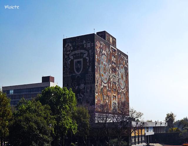 Los detalles de la Biblioteca Central de la UNAM