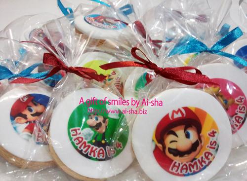 Edible Image Cookies Super Mario Ai-sha Puchong Jaya