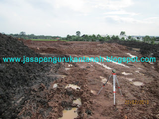 jasa pengerukan tanah, jasa pengurukan tanah, cut and fill land bandung