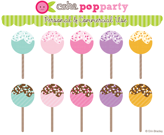 Cake Pop Clipart Free : Erin Bradley Designs: July 2012