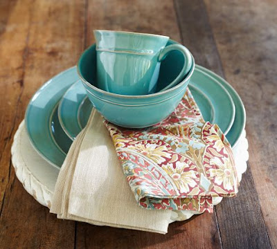 Turquoise Blue Cambria Dinnerware | Everything Turquoise
