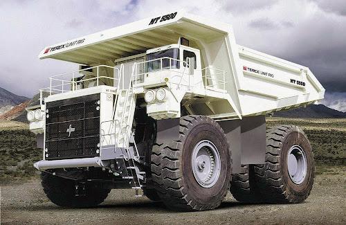 Terex MT 5500AC Mining Truck - maiores caminhões de mineração do mundo