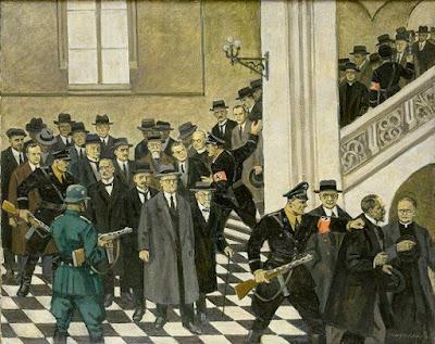 L'arrestation des professeurs par Mieczysław Wątorski.