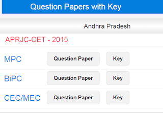 APRJC CET Key 2015 Answer Key with Question Paper