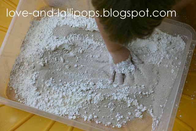 how to make moon sand without sand
