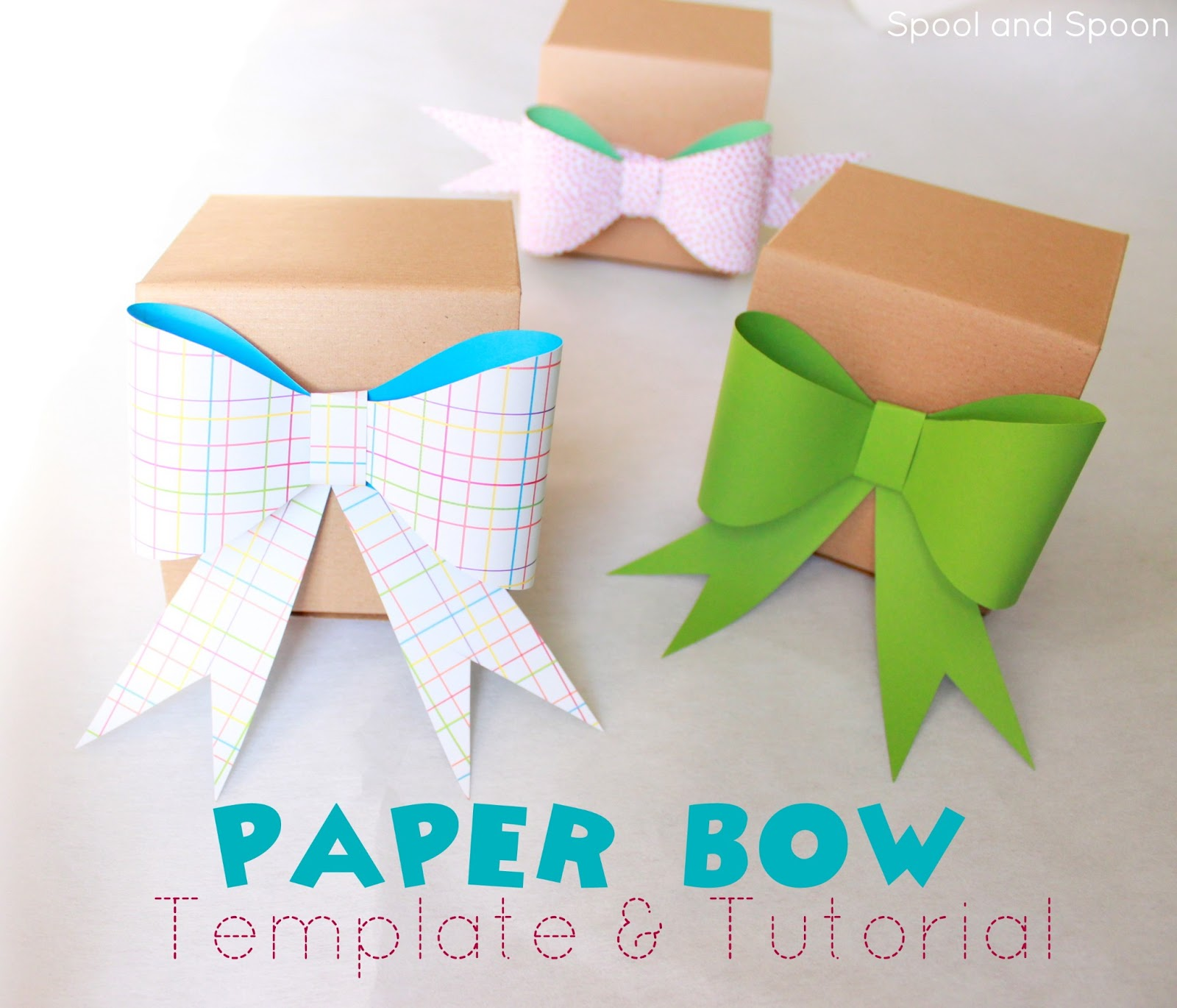Spool and spoon how to paper bow free template how to paper bow free template maxwellsz