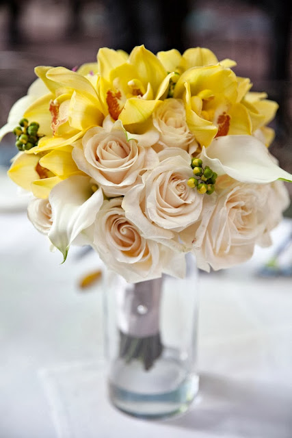 Yellow White Bridal Bouquet
