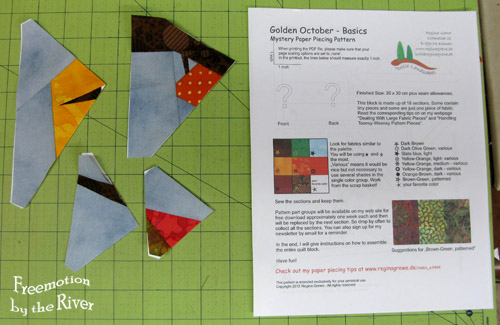Paper piecing Mystery project