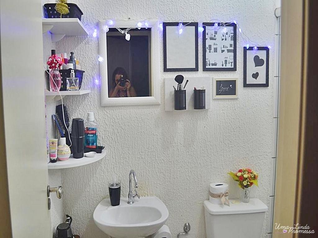 ~ Uma Linda Promessa ~ Diy Transformando o banheiro da casa -> Decoracao Banheiro Diy