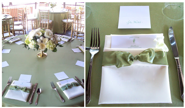 gold centerpiece peony garden rose david austin patience, the gandy dancer ann arbor wedding florist elegant mounded compote design michigan green and white wedding midori ribbon napkin folded around menu place setting sweet pea floral design detroit florist