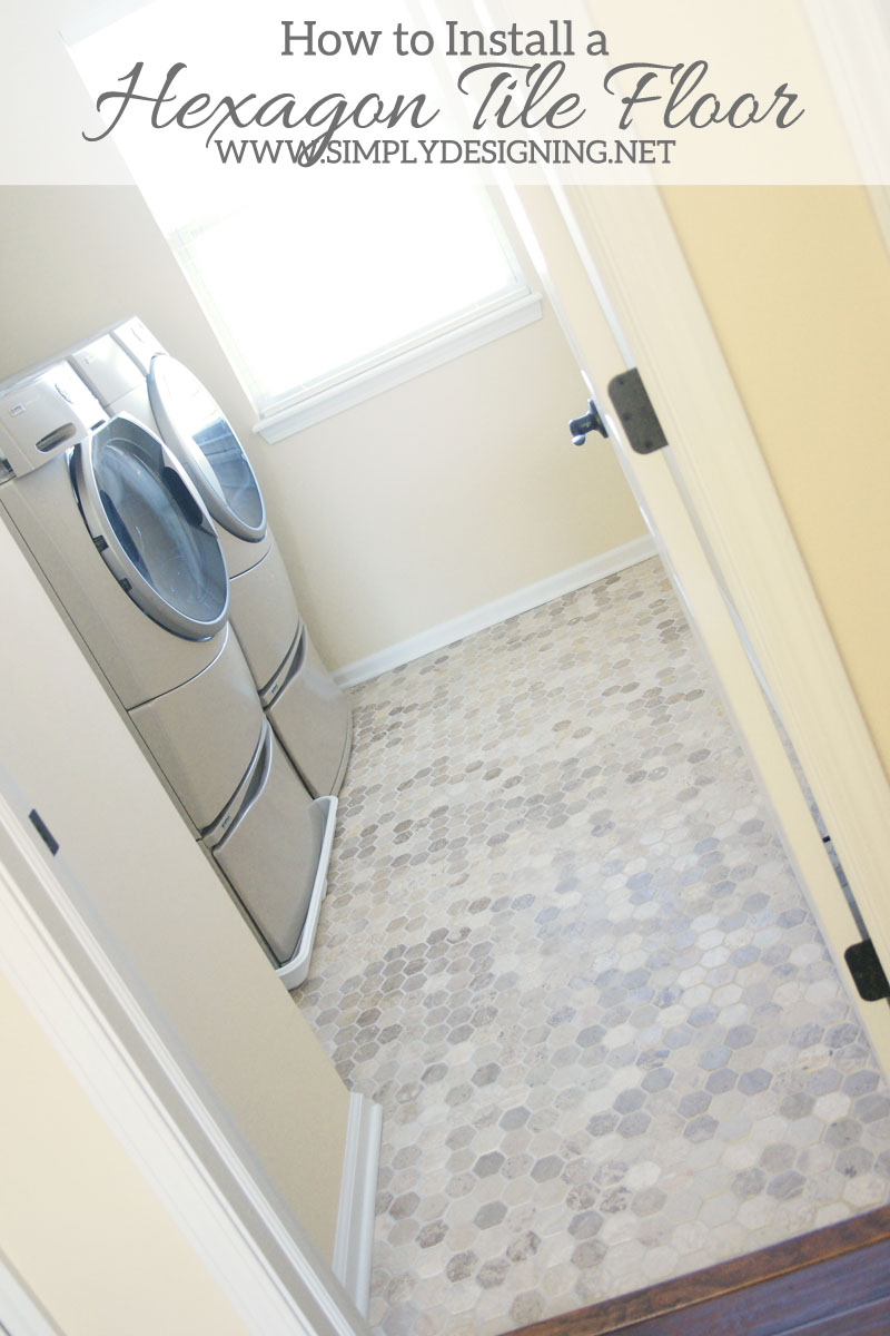 Hexagon laundry room tile thetileshop thetileshop how to install hexagon tile floors a complete tutorial for how to demo prep dailygadgetfo Images