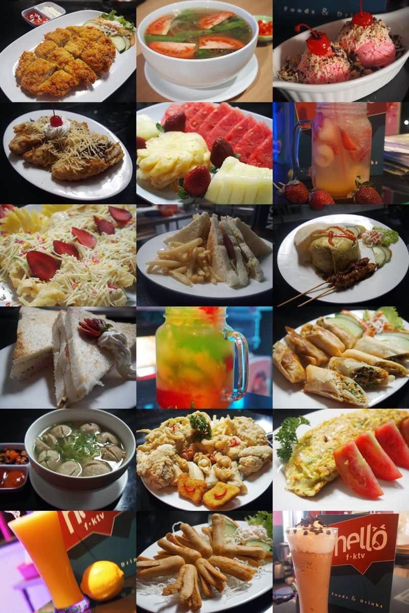 Menu makanan dan minuman Hello FKTV Karaoke