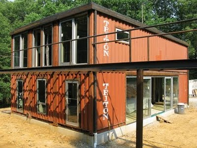 Crunchygreenliving shipping container architecture for Conteneur en maison