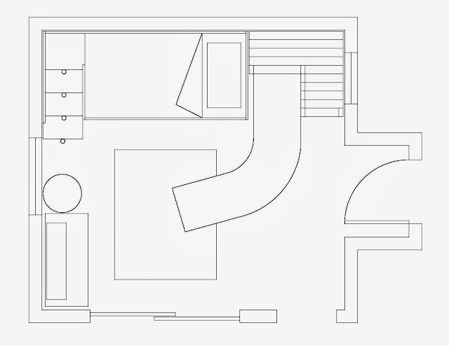 Girls Surfer / Beach Room Design Floorplan